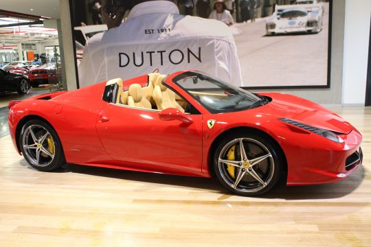 2012 Ferrari 458 Spider Convertible 2dr DCT 7sp 4.5i - for sale in Australia