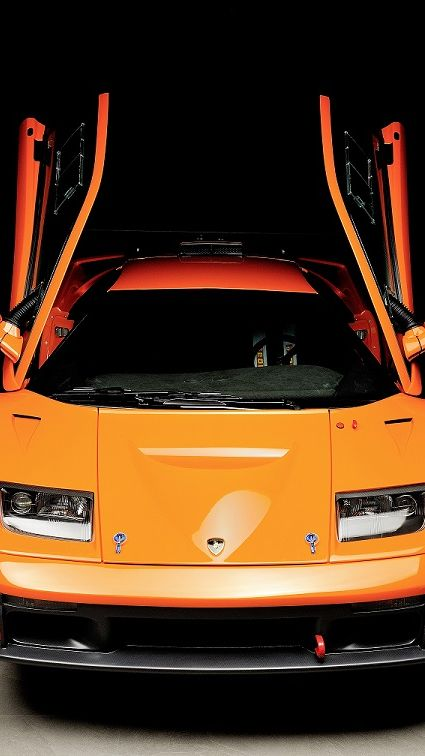 Lamborghini-Diablo-GTR-race-car-front-view-open-doors-web