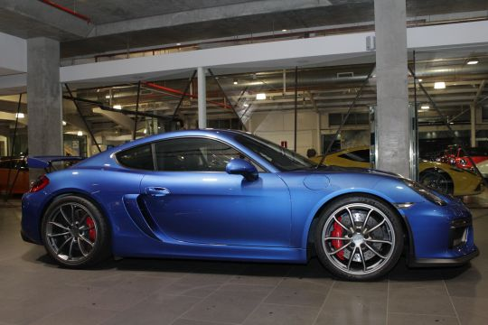 2015 Porsche Cayman 981 GT4 Coupe 2 door manual blue at Dutton Garage 41 Madden Grove Richmond 3121 Melbourne Victoria Australia Make Mine Rare Dutton Group