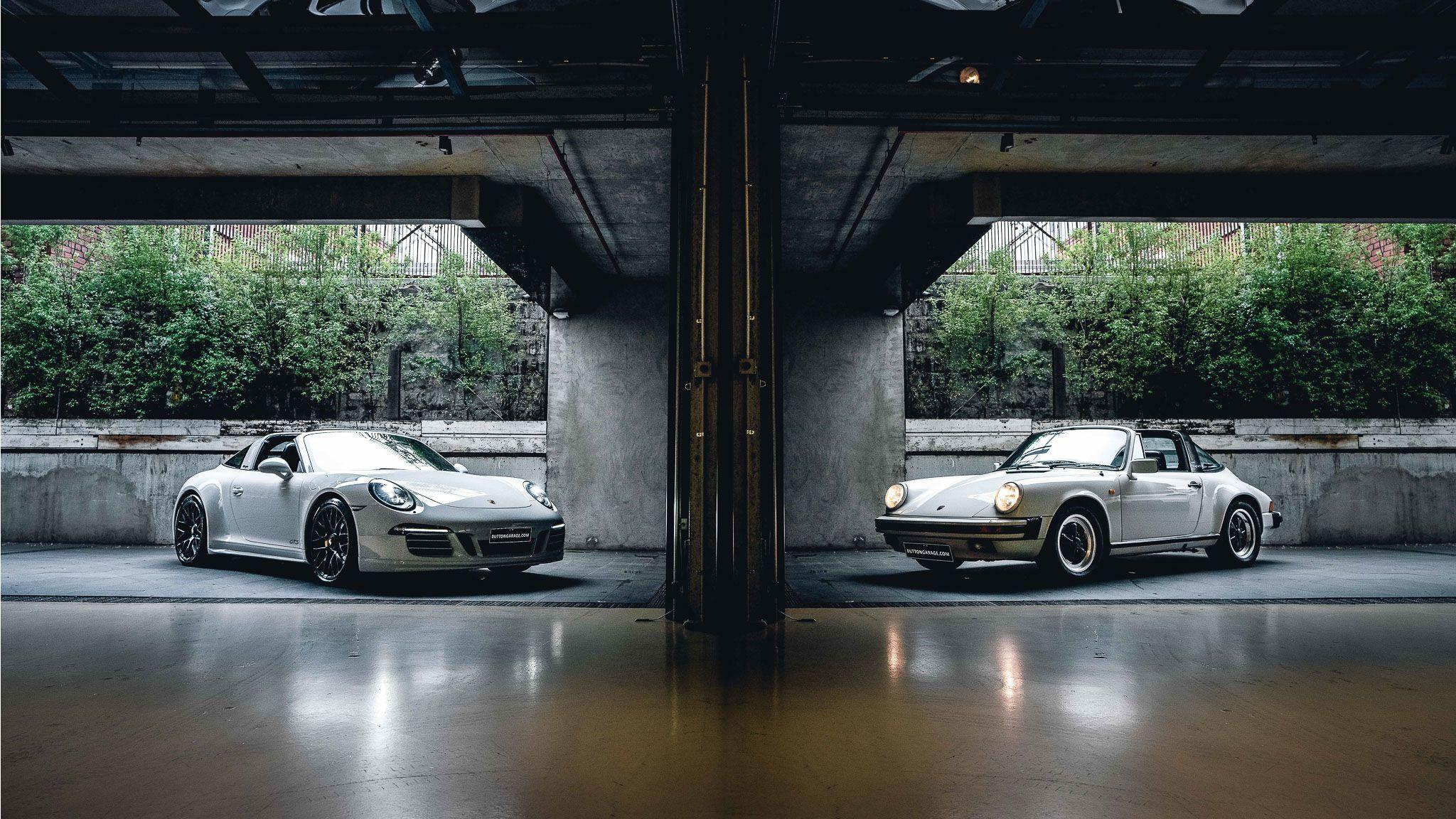 Modern and Classic Porsche Targa